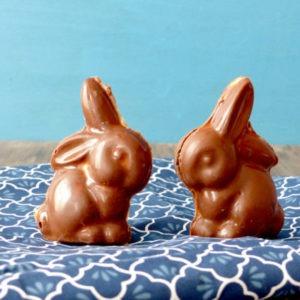 vignette lapin chocolat