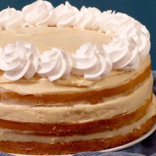 vignette layer cake à la bierre au beurre